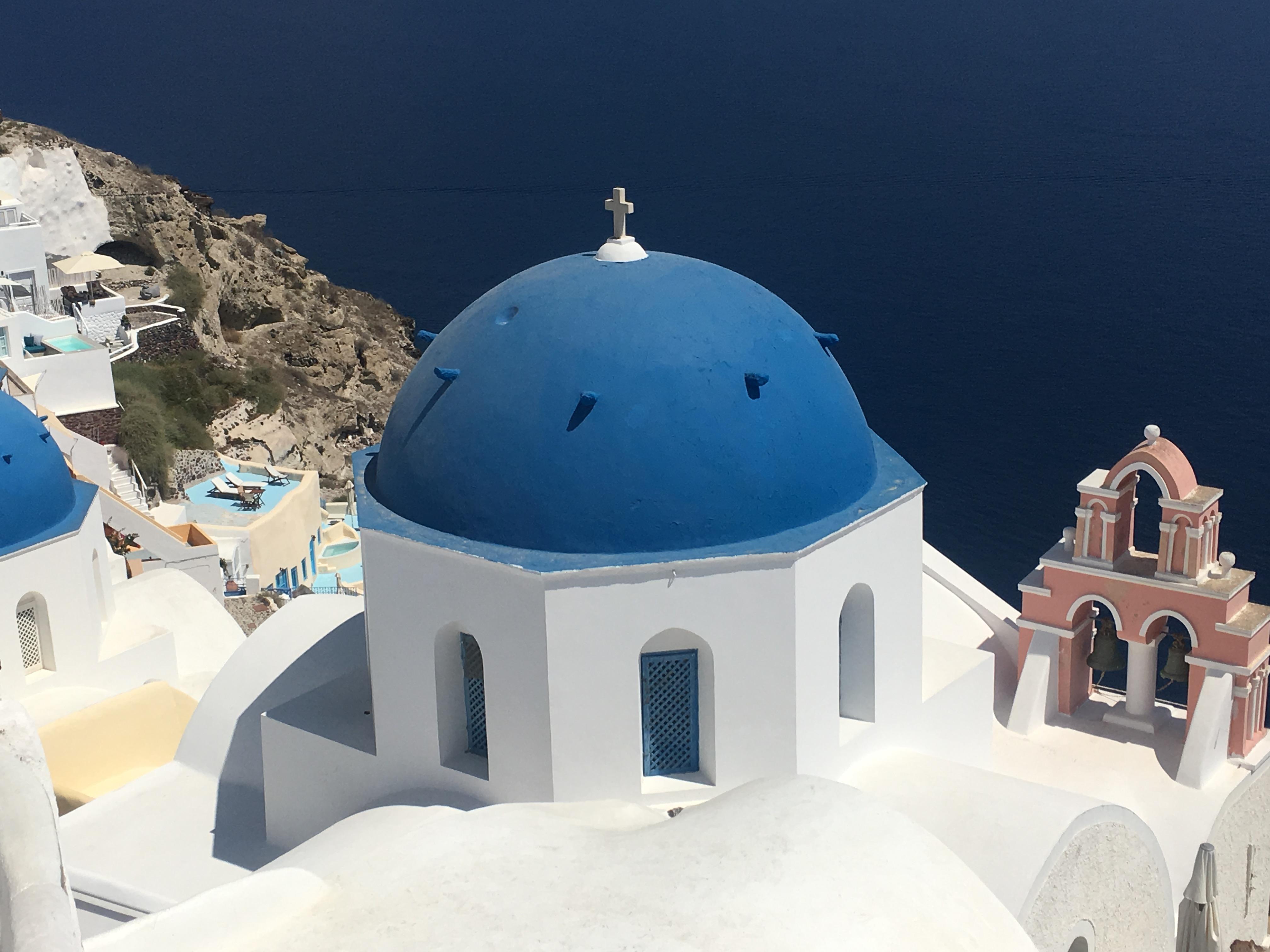 Spending the day in Santorini, Greece