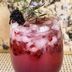 Blackberry Champagne Cocktail