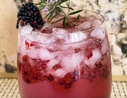 Blackberry Champagne Cocktails