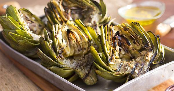 Grilled Artichokes with Lemon Dill Aioli