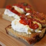Buratta and tomato bruschetta