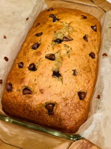 Baked Banana Bread with Chocolate Chips