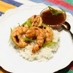 Chipotle Pan Roasted Shrimp over Rice