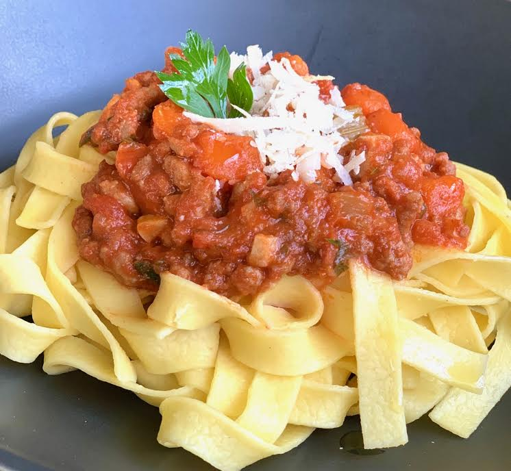 Classic Bolognese Sauce over Pasta