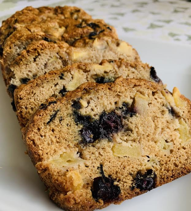Blueberry Apple Quick Bread