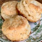Biscuits close up on plate