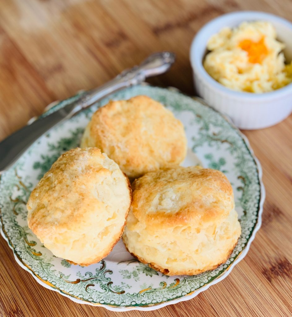 Baking Powder Biscuits and Orange Honey Butter