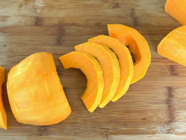 Butternut Squash sliced