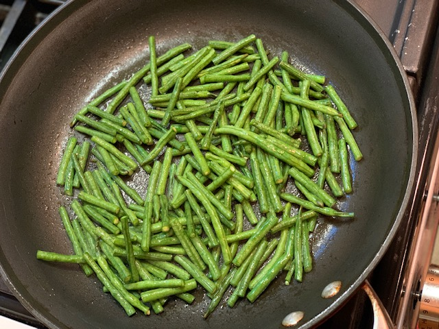 Chinese Long Beans cut up