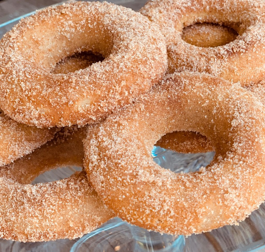 Churro Donuts in Cinnamon Sugar