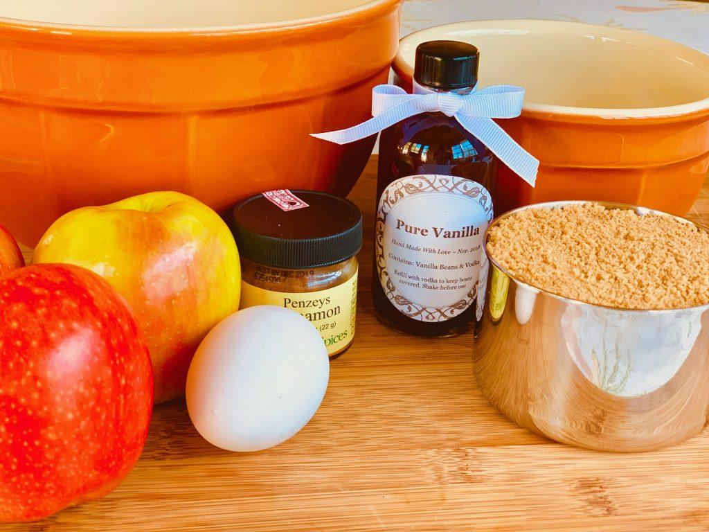 Cinnamon Apple coffee cake ingredients