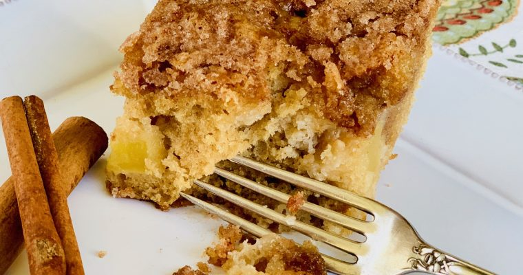 Cinnamon Coffee Cake with Apples
