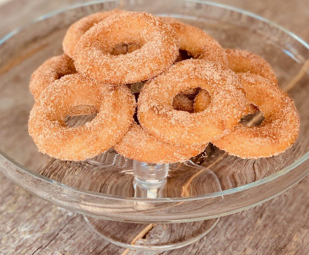 Baked Churro Donuts with Cinnamon Sugar