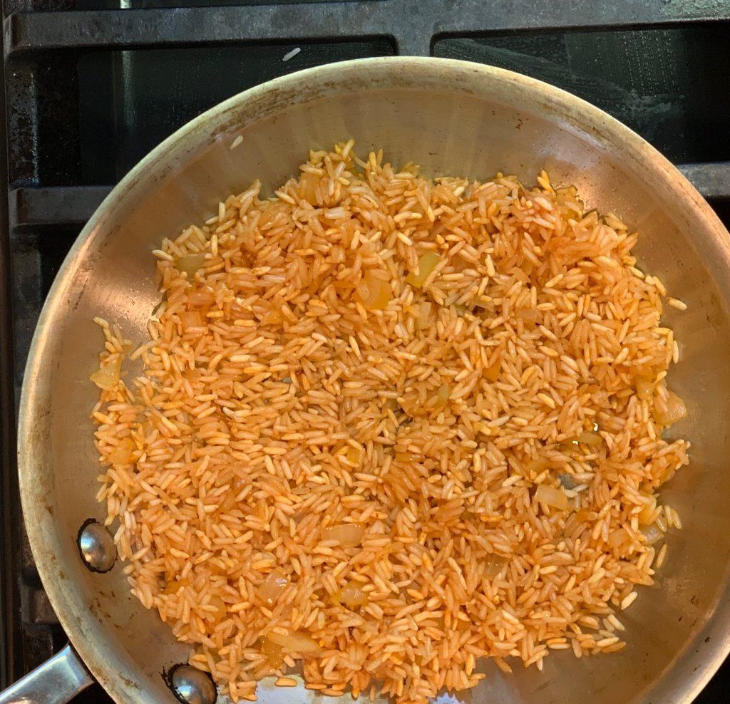 Spanish Rice with tomato sauce