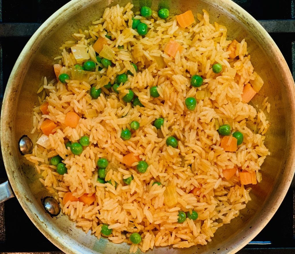 Spanish Rice with Peas and Carrots