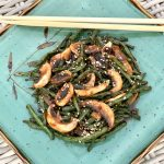 Spicy Chinese Long Beans and Mushrooms