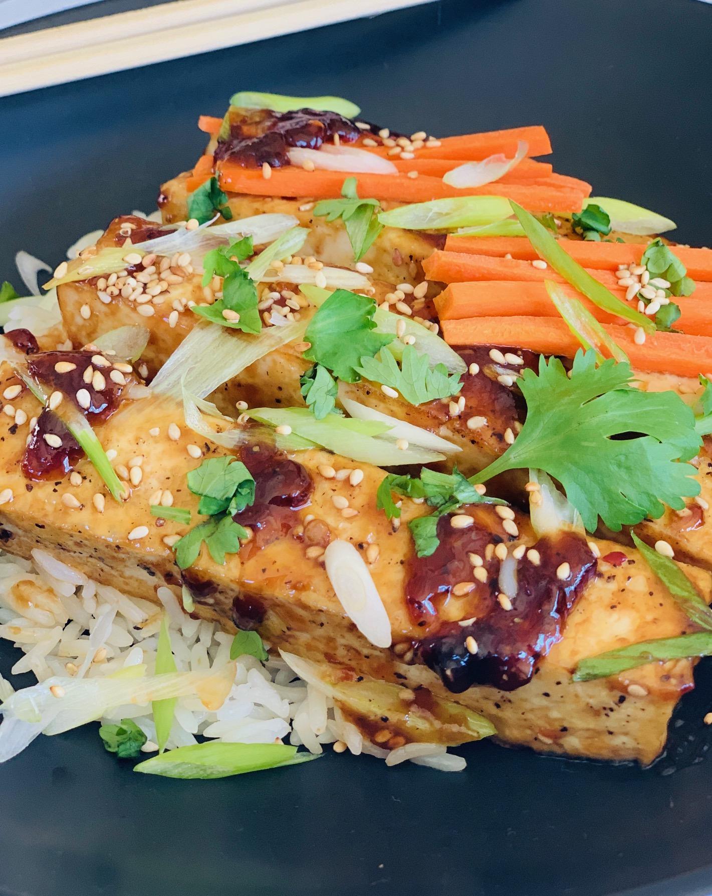 Tofu Sesame Rice Bowls