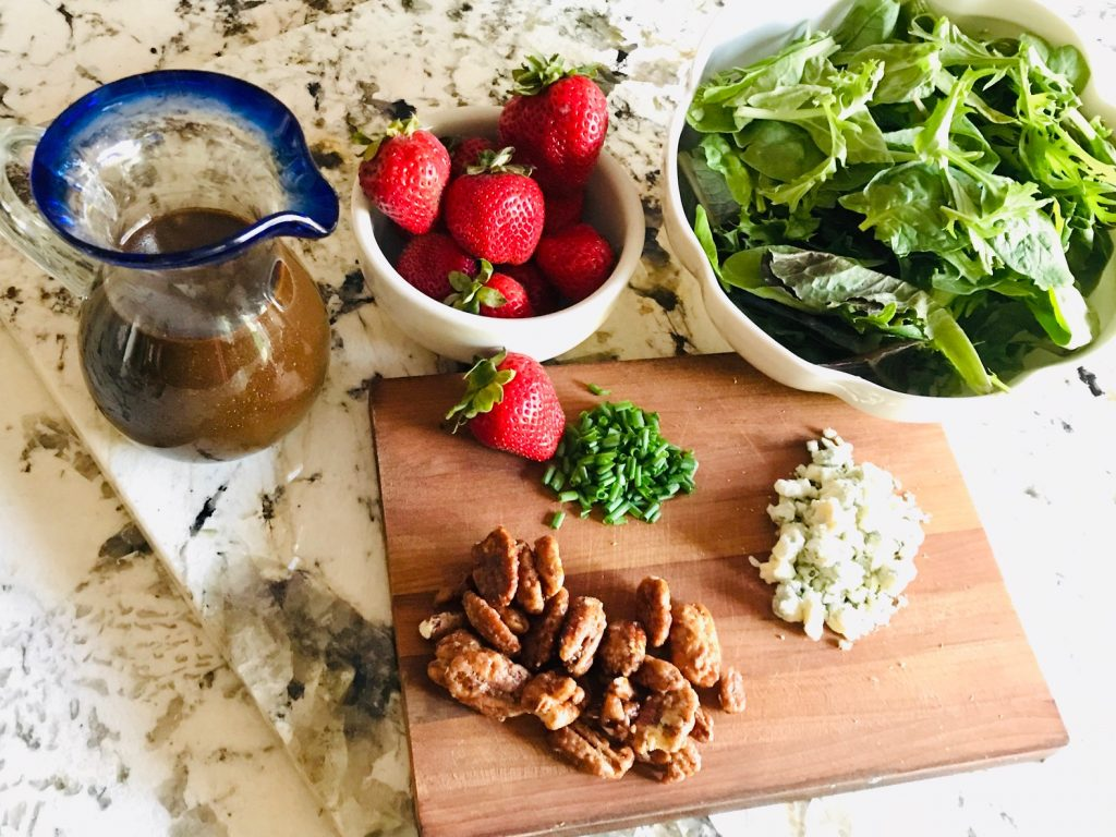 Strawberry Pecan Salad ingredients