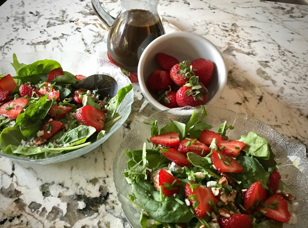 Strawberry Pecan Salads