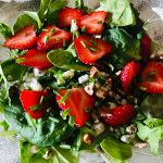 Strawberry Pecan Salad close up
