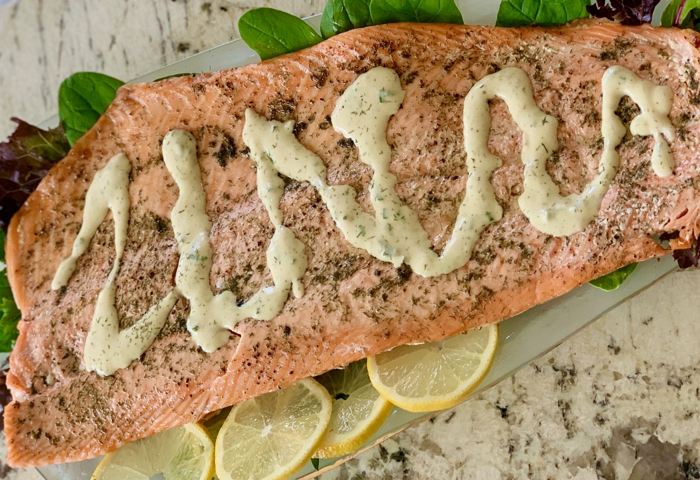 No Fail Baked Salmon with Mustard Dill Sauce