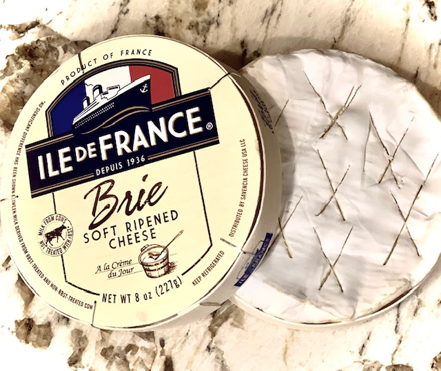 Brie in a wooden box