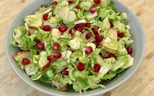 Brussels Sprout Pomegranate Salad