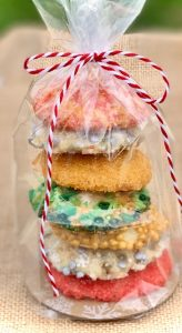 Cookies wrapped as a gift