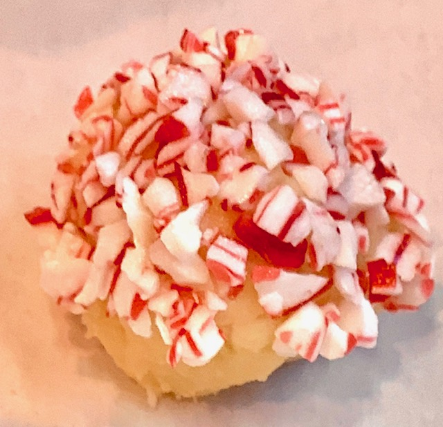 Peppermint decorated cookie