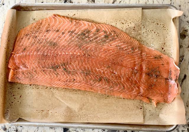 Salmon ready to bake