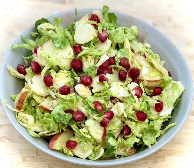Brussel Sprout, Apple, and Pomegranate Salad