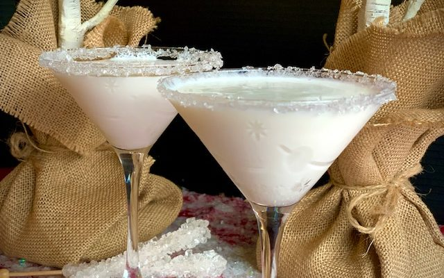White Chocolate Snowflake Martinis