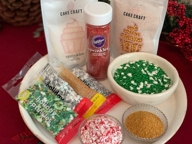 Sprinkles for holiday cookies