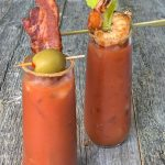 Bloody Mary's with Grilled Shrimp & Bacon