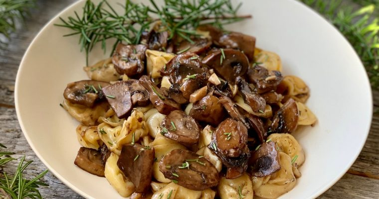 Garlic Mushrooms with Pasta