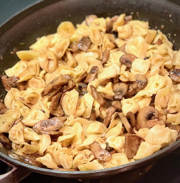 Mushrooms and Tortellini