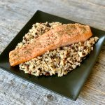 Oven Baked Salmon with Wild Rice