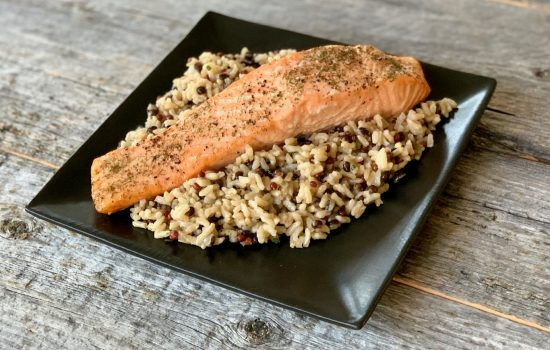 Oven Baked Salmon with Mustard Dill Sauce