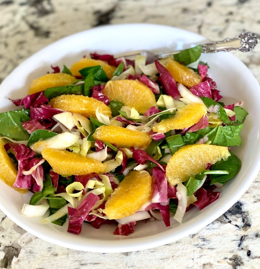 Tricolore Salad with Supremed Oranges