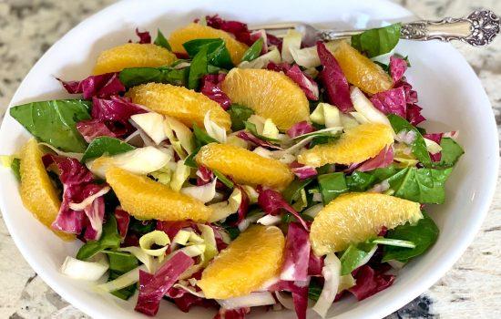 Tricolore Salad with Oranges