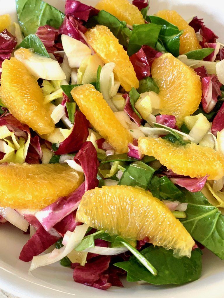 Tricolore Salad up close