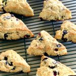 Blueberry Lemon Scones cooling on a rack
