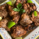 Jerk Chicken Platter with limes