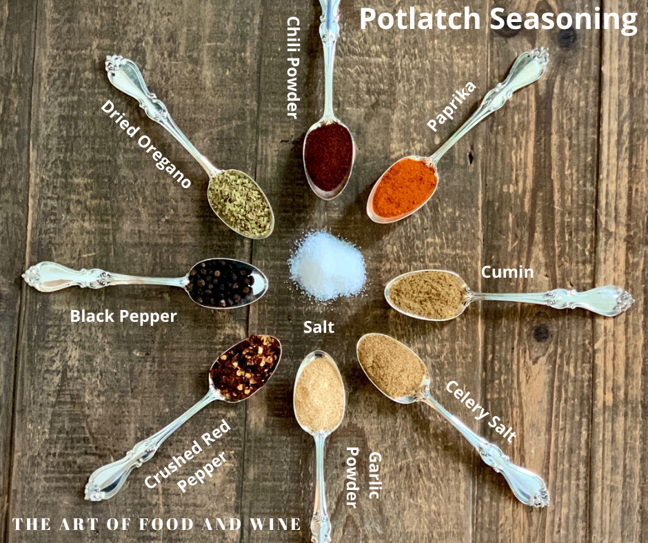 Potlatch Seasoning Ingredients on spoons