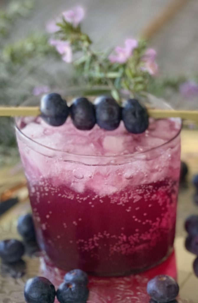 Vodka and Blueberry Cocktail