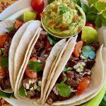 Carne Asada Tacos with guacamole
