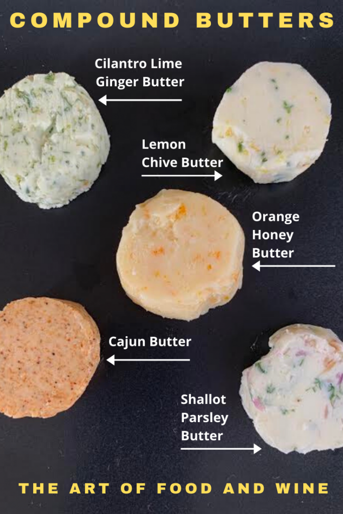 5 flavored Compound Butters
