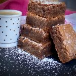 Brownies stack with Espresso