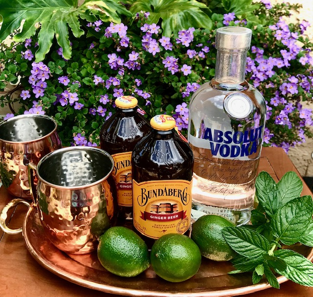 Ingredients for Moscow Mules