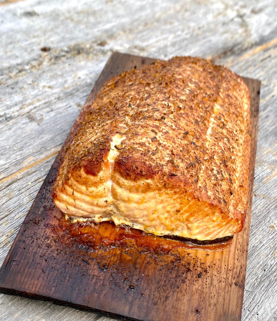 Grilling Salmon on a Cedar Plank